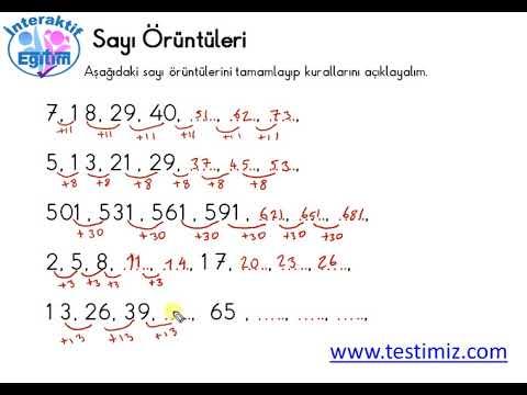 5 Sinif Matematik Sayi Oruntuleri Konu Anlatimi