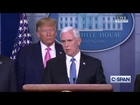 President Trump announces Vice President Mike Pence as Coronavirus Point Person