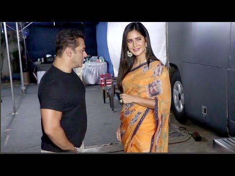 Salman Khan Very Cute Moment With Girlfriend Katrina Kaif Bharat Movie Promotion