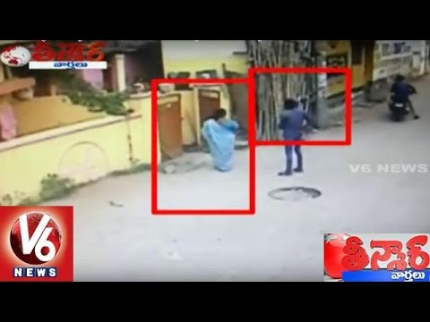 Chain Snatching At Langar Houz | Exclusive CCTV Footage | Teenmaar News