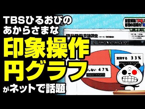 """2020年5月21日 ひるおびの""""内閣支持率円グラフ""""が話題"""