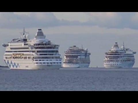 AIDAaura AIDAluna AIDAvita | AIDA Cruises Treffen auf der Kieler Förde am 30.07.2016 | 4K-Video