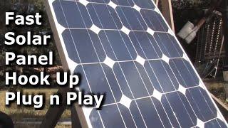 DIY Solar Panel Power from 80 WATT SOLAR PANELS to a Grid Tie Inverter