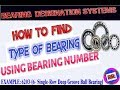 How to find type of bearing using bearing number