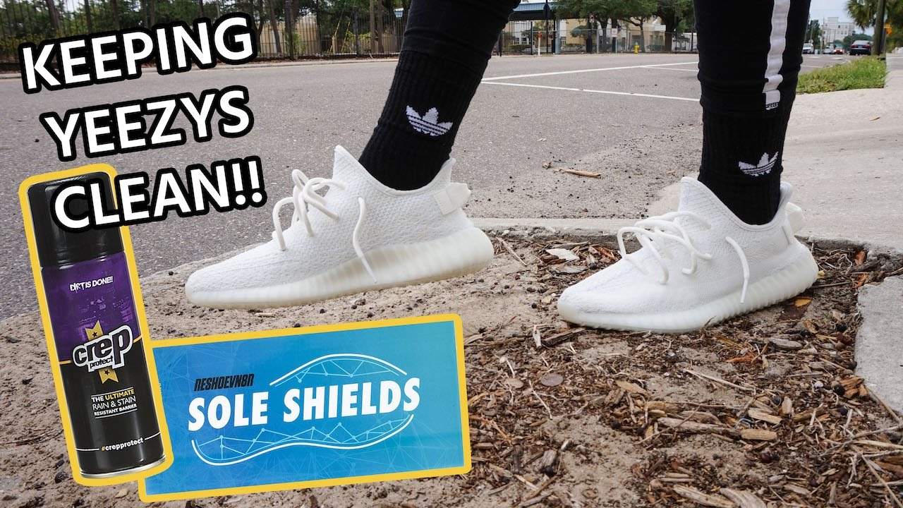 f50cf8bbece How to Protect your Yeezy Boost 350 V2 Cream Triple White - YouTube