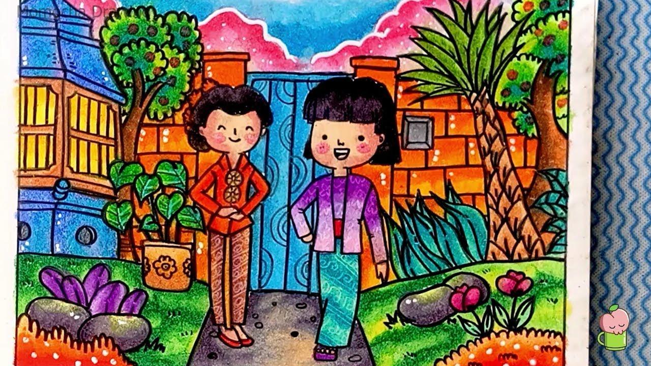 Hari Kartini - Cara menggambar dan mewarnai gradasi warna oil ...