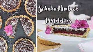 HIMBEER SCHOKO TARTELETTES BACKEN | Schokoladen Tarte selber machen [mit Himbeeren]