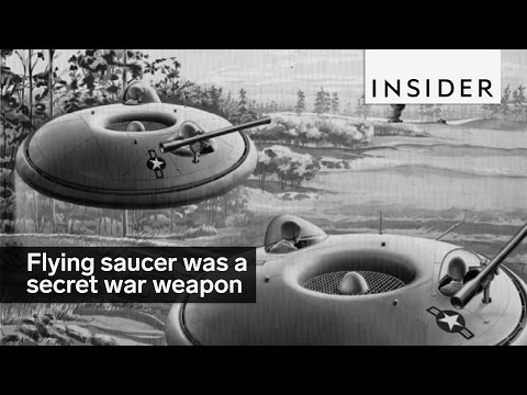 This flying saucer was a secret weapon during the Cold War