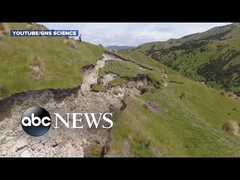 New Zealand Earthquake Impact Drone Video