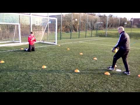 GOALKEEPER TRAINING, PETE RICHES, DIVING TECHNIQUE, HARRY McCORKELL