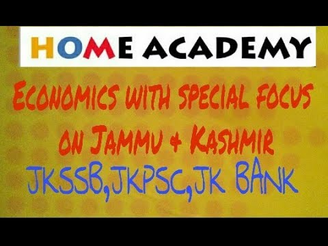 Economy of jammu and kashmir for JKSSB,JKPSC,JK BANK, by home academy