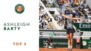 Ashleigh Barty - TOP 5 | Roland Garros 2019