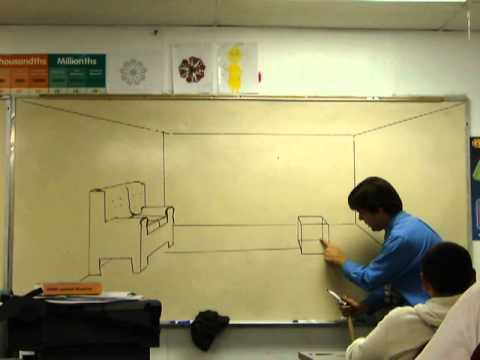 One point perspective living room tv youtube - Two point perspective living room ...