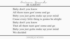 Ariana Grande - Be Alright (Lyrics)