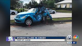 Driver killed in Port St. Lucie crash Saturday morning