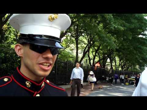 US Army Sgt. Xavier Ramirez Marine Recruitment officer w/ Arthur Gregory @ Ground Zero Wed 7/22/09