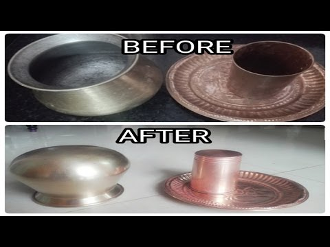 HOW TO CLEAN COPPER AND BRASS VESSELS VERY EASILY(simple secret trick)