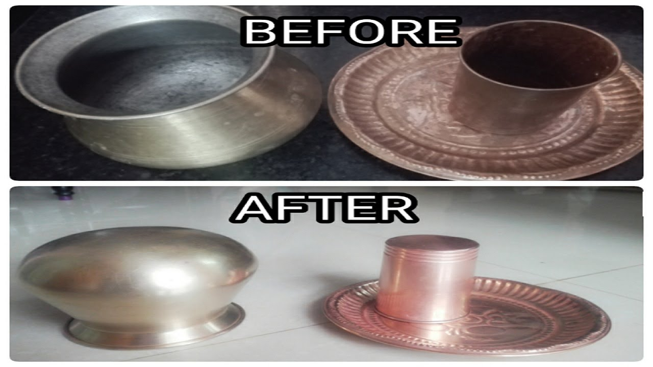 How To Clean Copper And Brass Vessels Very Easily Simple Secret Trick