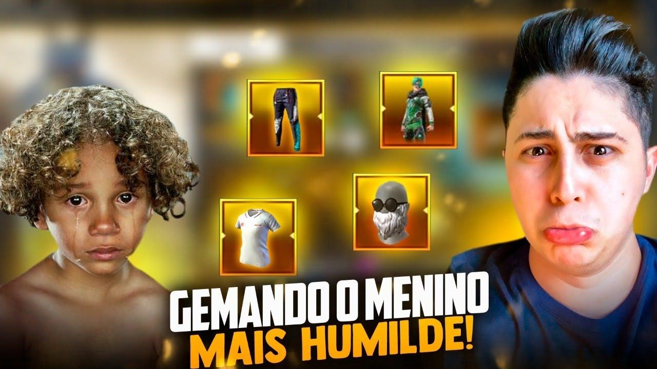 🚩GEMANDO CONTA DO MENINO MAIS HUMILDE DO FF !!  LOUD MEGA!! SOLO RANKED!🔴FREEFIRE AO VIVO - LIVE
