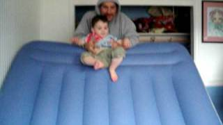 Going Down Air Mattress Slide
