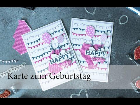 "Karte zum Geburtstag ""Happy Birthday"""