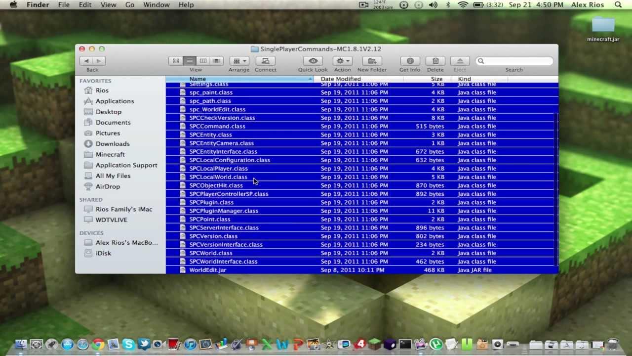 single player commands minecraft 1.6.2 mac
