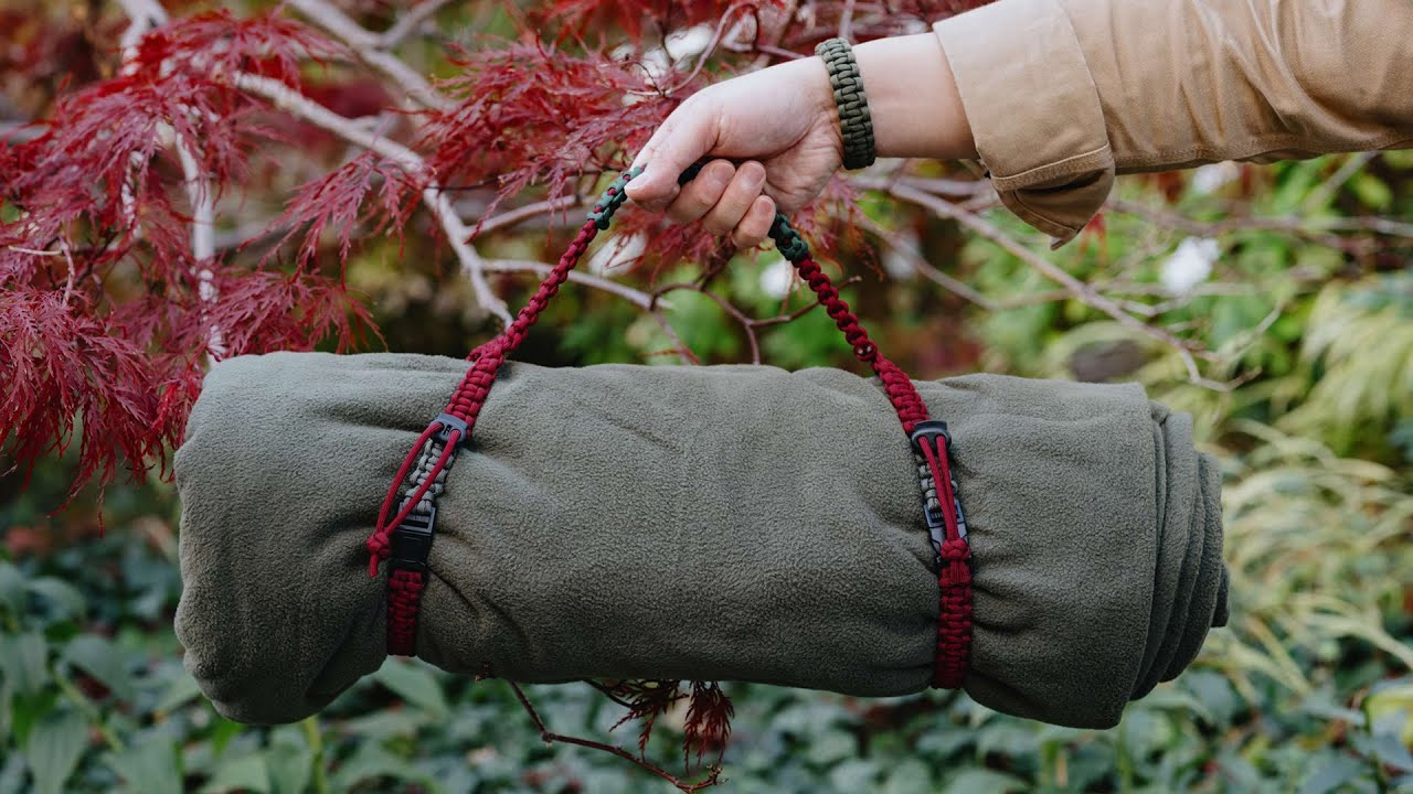 BLANKET TO GO! Paracord Blanket Roll Straps | DIY - HOW TO