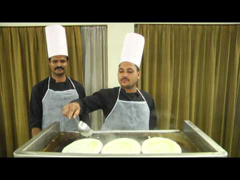 SET DOSA Making on Commercial Induction Tawa