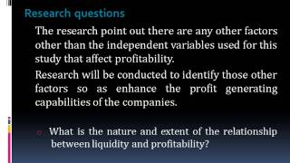 Relationship between liquidity and profitability of Trading companies in Sri Lanka