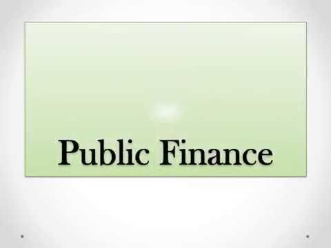 Public Finance chapter one