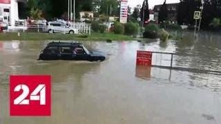 Непогода бушевала на Кубани, а теперь проявится в столице - Россия 24