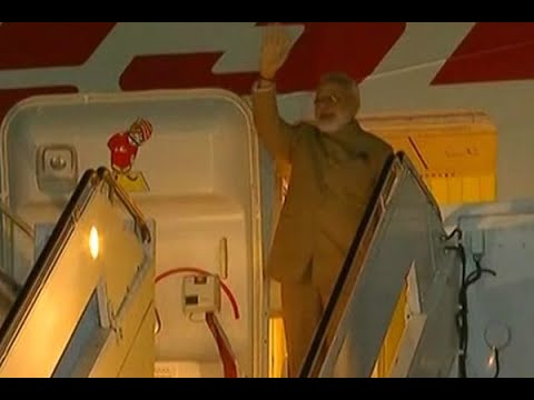 PM Narendra Modi arrives at Joint Base Andrews, Washington DC on the second leg of his thr