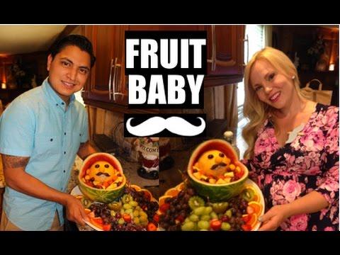 DIY Fruit Baby For BABY SHOWER