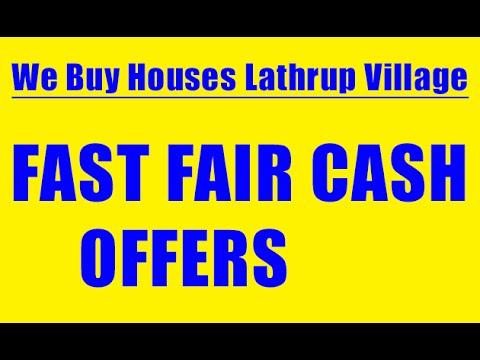 We Buy Houses Lathrup Village - CALL 248-971-0764 - Sell House Fast Lathrup Village