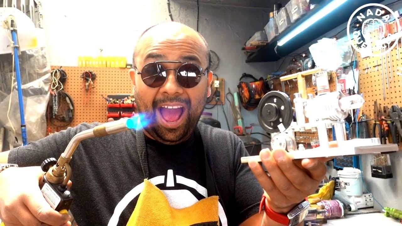 Motor Stirling VS Soplete de 3700° Celsius ¿Qué puede malir sal? | NQUEH
