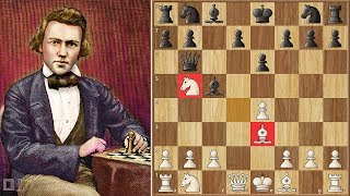 A Wanderer Isn't Always Lost || Morphy Vs Paulsen 1857 || 1st American Chess Congress
