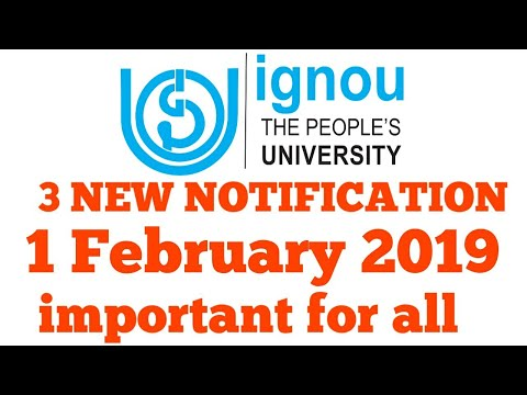 ignou 3 new notification ignou Dec result 2018, online admission date || chauhan videos ignou