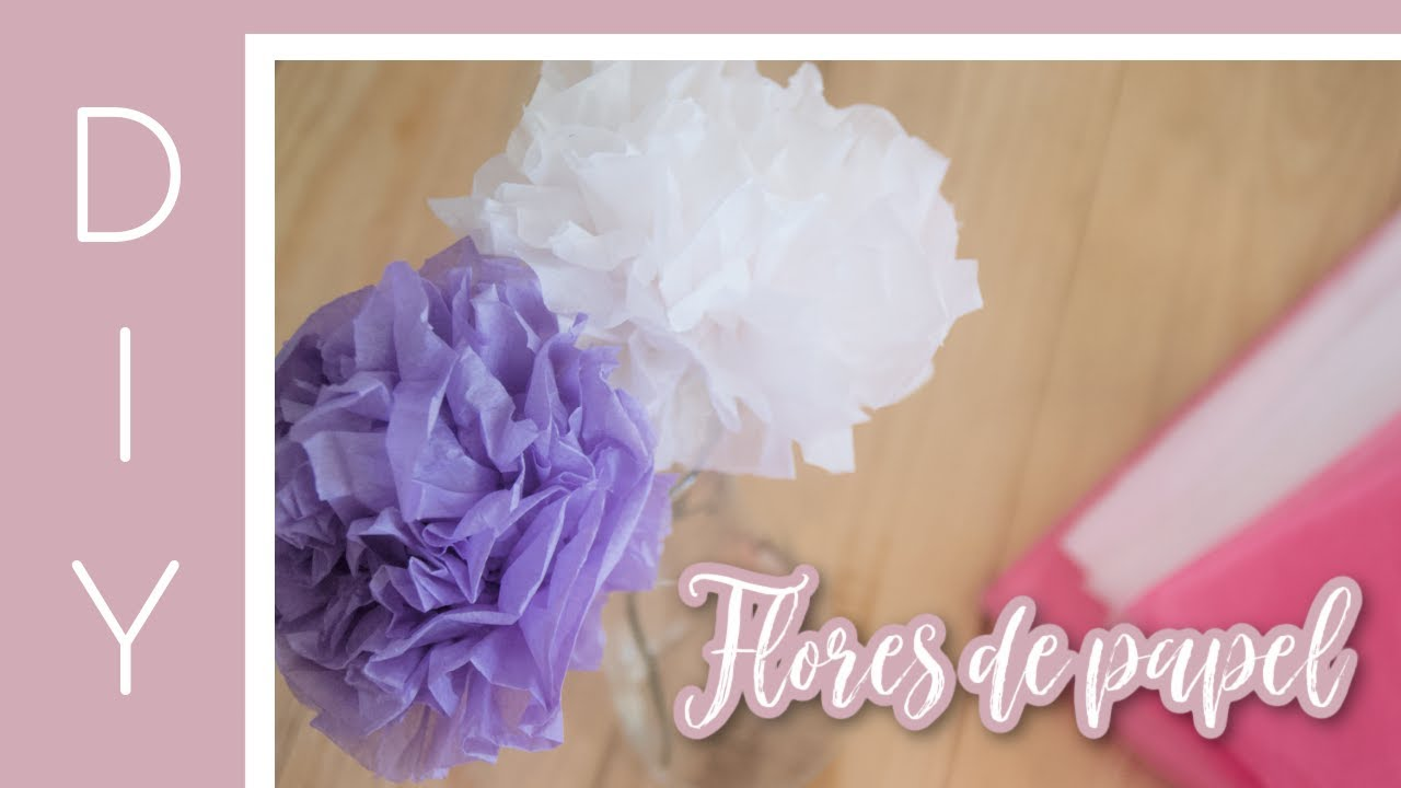 Como Hacer Flores de PAPEL en 2MIN Manualidades fáciles
