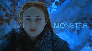 arya stark & sansa stark [i've turned into a monster]