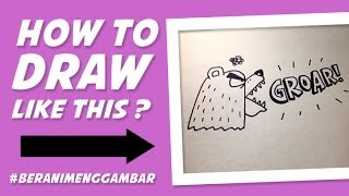 How to Draw Angry Bear From Letter K