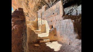 Ancient Native American Cliff Dwelling & Wild Mustangs in Arizona 4K
