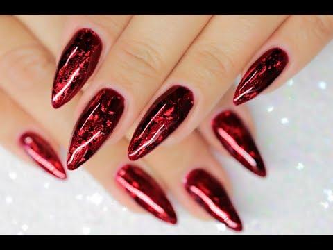 ♥️RUBY RED FOIL SANDWICH | GLASS GEL & JEWEL FOILS♥️