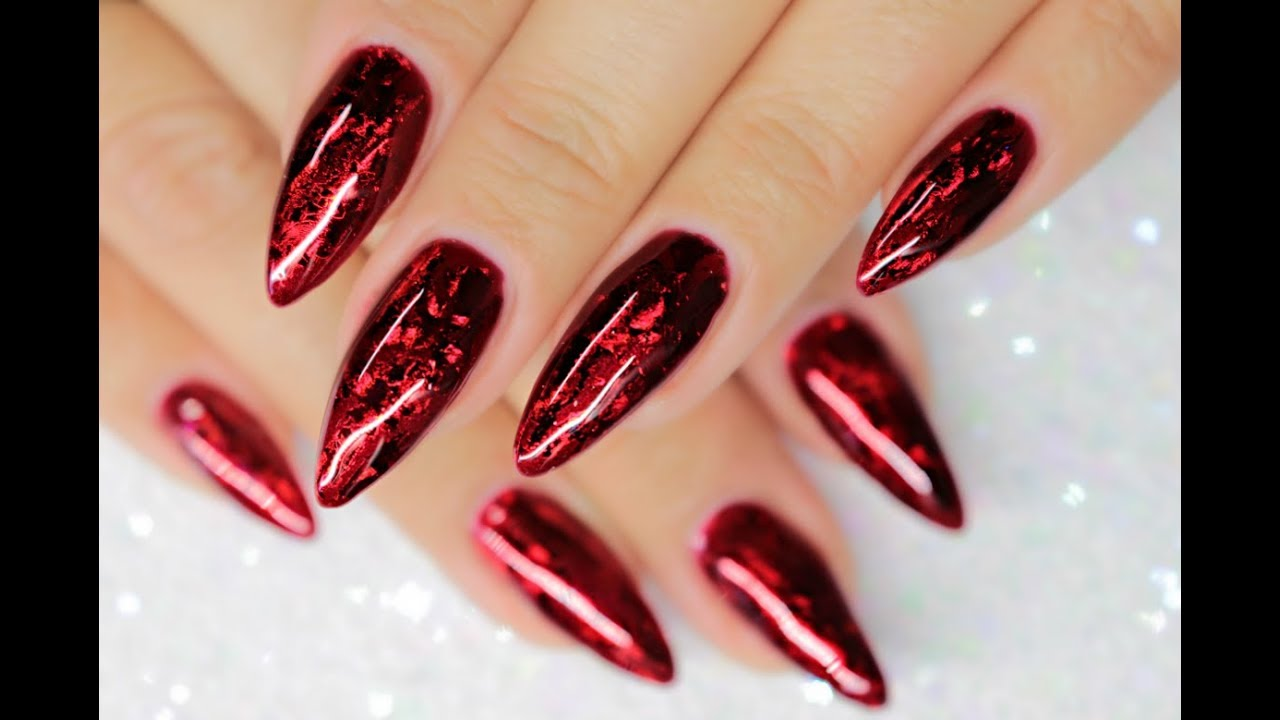 Ruby Red Foil Sandwich Gl Gel Jewel Foils