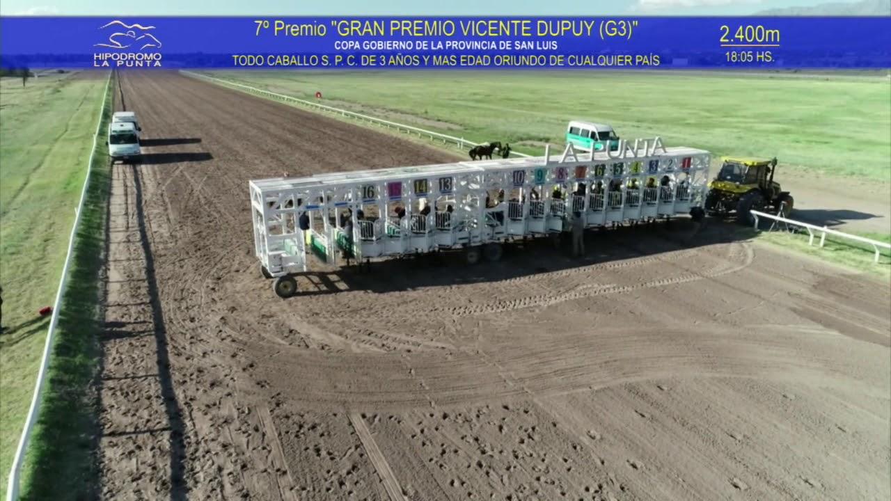 16 de Febrero de 2020 - Gran Premio VICENTE DUPUY COPA GOBIERNO DE LA PROVINCIA DE SAN LUIS-2.400mts
