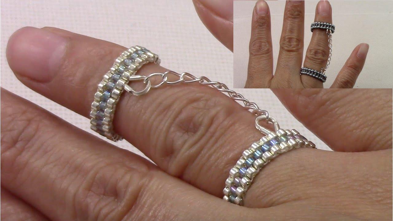 Handmade jewelry Handcuff Beaded Ring (English Version ...