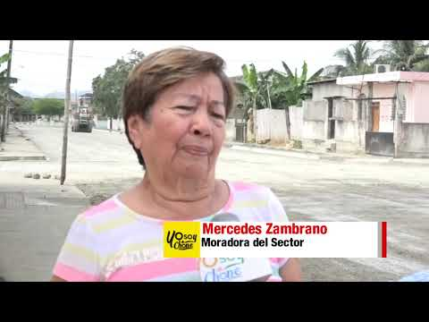 Microinformativo Yo Soy de Chone - Trabajos en calle Ítalo Colamarco y Salustio Giler