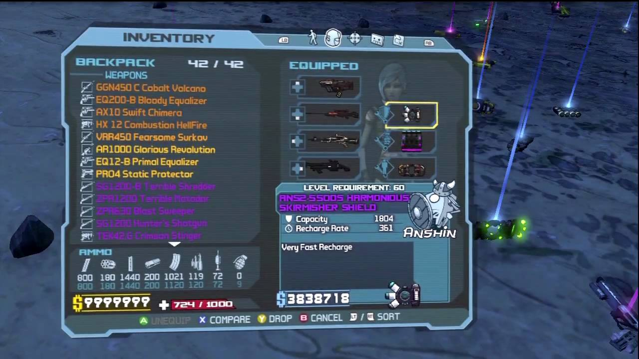 Borderlands: Crawmerax the Invincible Loot