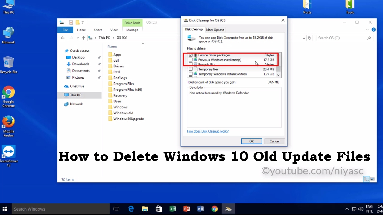 How to Delete Windows old Folder and Files from Windows 10