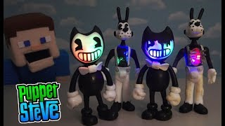 Bendy and the Ink Machine BOOTLEG FIGURES Fake Knock off Boris Wolf Review Toys Plush hack