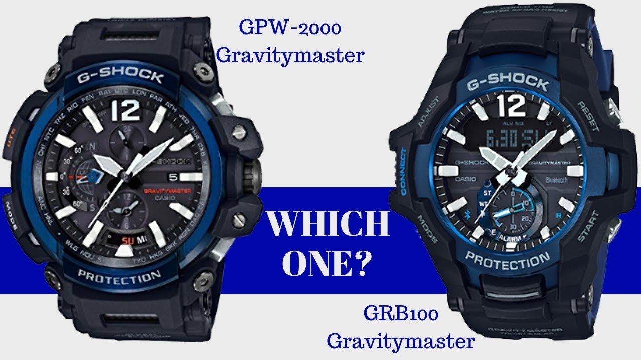 One Watch Gr Comparison Is Gravitymaster Which 2000 G B100 Shock Vs BetterGpw 4jRAL5